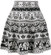 Alexander McQueen jacquard knit mini skirt - women - Polyamide/Polyester/Spandex/Elastane/Viscose - M