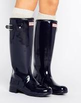Hunter Adjustable Tall Glossy Wellington Boot