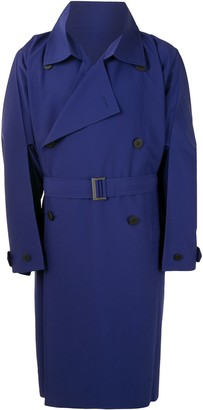 Homme Plissé Issey Miyake A-Poc double breasted trench coat