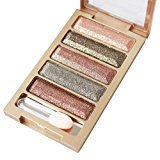 Putars New Professional 5 Colors Glitter Eyeshadow Makeup Eye Shadow Palette (E)