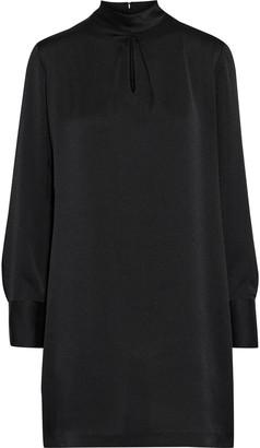 DKNY Cutout Hammered-satin Mini Dress