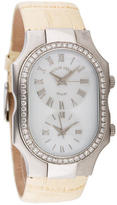 Philip Stein Teslar Large Diamond Dual Time Teslar Watch