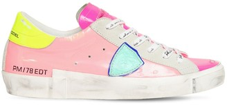 Philippe Model PARIS PATENT LEATHER SNEAKERS