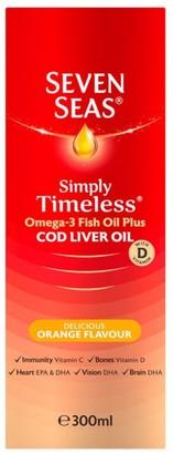 Seven Seas Simply Timeless Cod Liver Oil Orange Flavour 300Ml