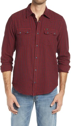 Lee Rider Plaid Flannel Button-Up Shirt