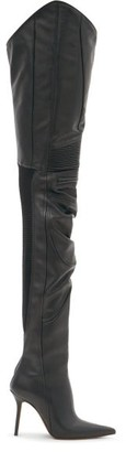 Vetements Over-the-knee Leather Boots - Black