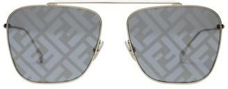 Fendi 61MM Square Logo Sunglasses