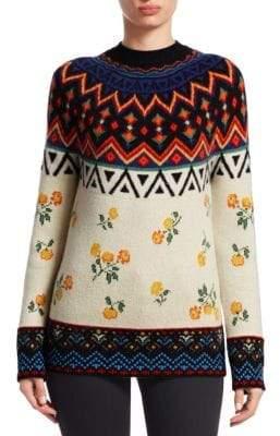 Greenland Alanui Jacquard Cashmere Knit Sweater