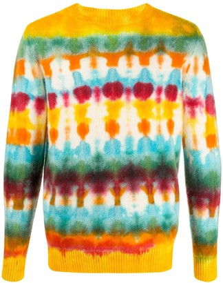 The Elder Statesman Tie-Dye Patterned Cashmere Jumper