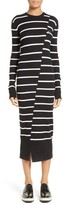 McQ Women's Distort Stripe Wool Sweater Dress