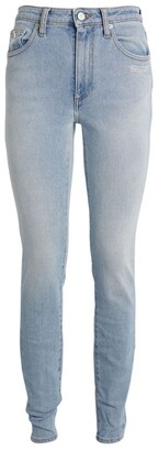 Off-White Logo-Detail Skinny Jeans