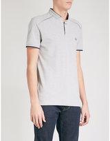 The Kooples Officer Collar Cotton-piqué Polo Shirt