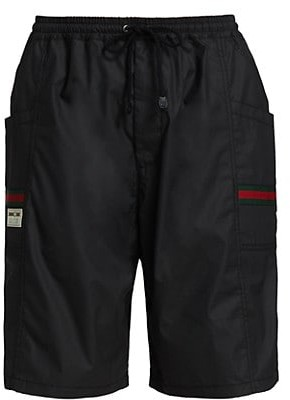 Gucci Coated Cotton Shorts With Label