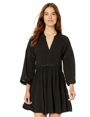 Seafolly Women's Kimono Sleeve Ladder Tape Dress Swimsuit Cover Up