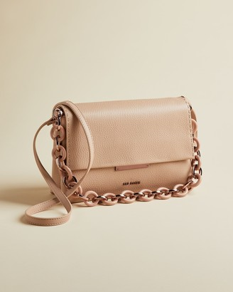 Ted Baker AREALIA Leather resin chain shoulder bag