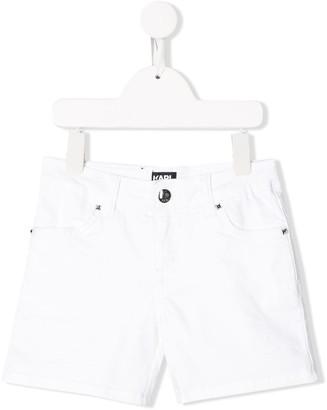 Karl Lagerfeld Paris Slim-Fit Denim Shorts
