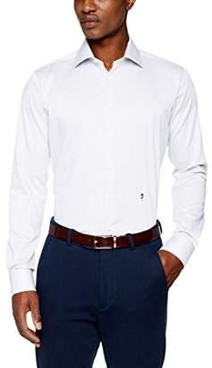 Seidensticker Men's Dress Shirt Formal Shirt Business Shirt Extra Slim Fit Long Sleeve Collar Kent Non-Iron Black Rose