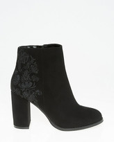 Le Château Embroidered Round Toe Ankle Boot