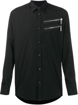 DSQUARED2 Zip Detail Button-Up Shirt