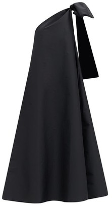 BERNADETTE Winnie One-shoulder Taffeta Gown - Black
