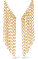 Elizabeth and James Kona gold-tone earrings
