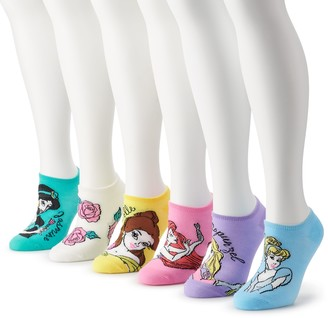 Disney Princess Juniors' 6-pack No-Show Socks