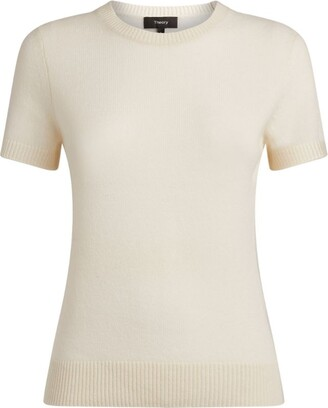 Theory Cashmere Short-Sleeved Sweater