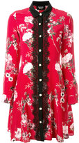 The Kooples lace front floral dress - women - Silk/Polyester - 1