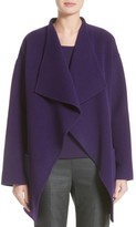 St. John Women's Double Face Wool Blend Drape Coat