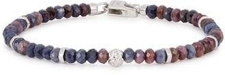 Tateossian Sapphire small beaded bracelet