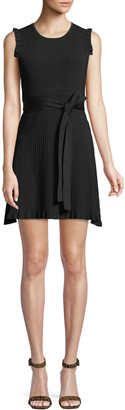 Parker Renata Ribbed Crewneck Short Dress