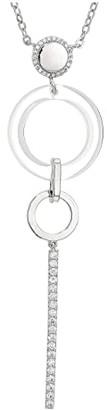 Nina Resin Pave Bar Drop Necklace