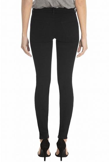 J Brand 485 French Sateen Skinny Jean In Black