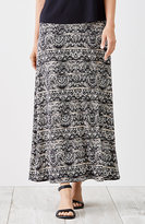 J. Jill Printed Easy Knit Maxi Skirt