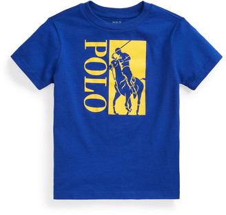 Ralph Lauren Kids Boy's Big Pony & Polo Printed Short-Sleeve Shirt, Size 2-4