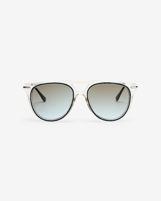 Express Clear Round Frame Sunglasses