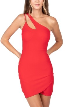 B. Darlin Juniors' One-Shoulder Bodycon Dress