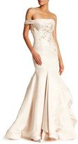 Mac Duggal One Shoulder Embellished Gown