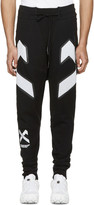 11 By Boris Bidjan Saberi Black Cross Logo Lounge Pants
