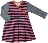 Kiwi Jumper Dress (Baby) - Pink/Midnight Stripe-0-3 Months