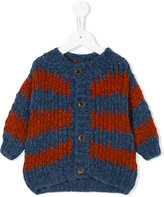 Bobo Choses striped chunky knit cardigan