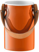 LSA International Utility Utensil Pot & Leather Handle - 29cm - Pumpkin Orange