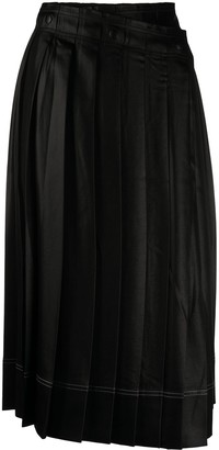 Acne Studios Pleated Wrap-Front Skirt