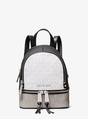 Michael Kors Rhea Mini Color-Block Logo Backpack