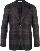 Boglioli pointed lapel plaid blazer - men - Silk/Linen/Flax/Acetate/Virgin Wool - 48