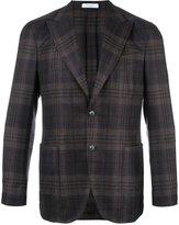 Boglioli pointed lapel plaid blazer - men - Silk/Linen/Flax/Virgin Wool/Cupro - 48
