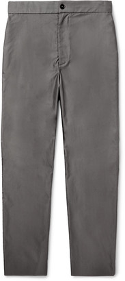 The Row Black La Track Slim-Fit Tapered Cotton Trousers