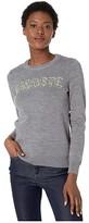 Lacoste Long Sleeve Interlock Wool All Over Croc Logo Sweater (Stone Chine) Women's Sweatshirt