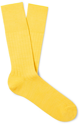 Mr P. Cotton-Blend Socks - Men - Yellow