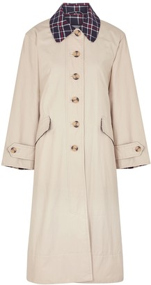 Barbour By ALEXACHUNG Glenda Stone Brushed-twill Trench Coat